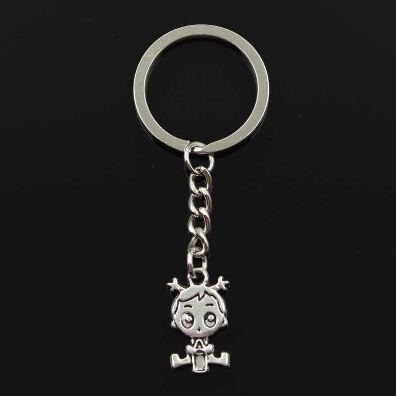 المفاتيح 24x13 مللي متر طفل صبي فتاة المعلقات DIY بها بنفسك الرجال المجوهرات سيارة مفتاح سلسلة حلقة حامل تذكارية للهدايا