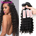 Mesariel Peruvian Virgin Hair Deep Wave 4 Bundles 7A Peruvian Virgin Hair Cheap Human Hair Weave Websites Peruvian Deep Wave