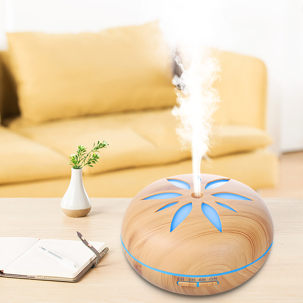 AC 100-240V Large Capacity Ultrasonic Aroma Diffuser Air Humidifier With 7 Colors LED Lights 550ML Essential Oil Diffuser