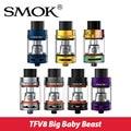 Original smok smok tanque 5 ml partido tfv8 bebé grande g-priv mod 200 w top-bebé de llenado atomimzer con x4 core/bebé t6/rba núcleo