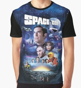 Image 1 - All Over Print T Shirt Men Funy tshirt SPACE 1999 ART   001  Short Sleeve O Neck Tops Tee women t shirt