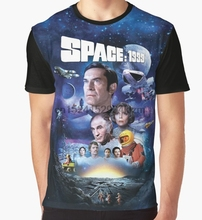 올 오버 프린트 t 셔츠 남성 Funy tshirt SPACE 1999 ART   001 반소매 o 넥 탑스 Tee women t shirt