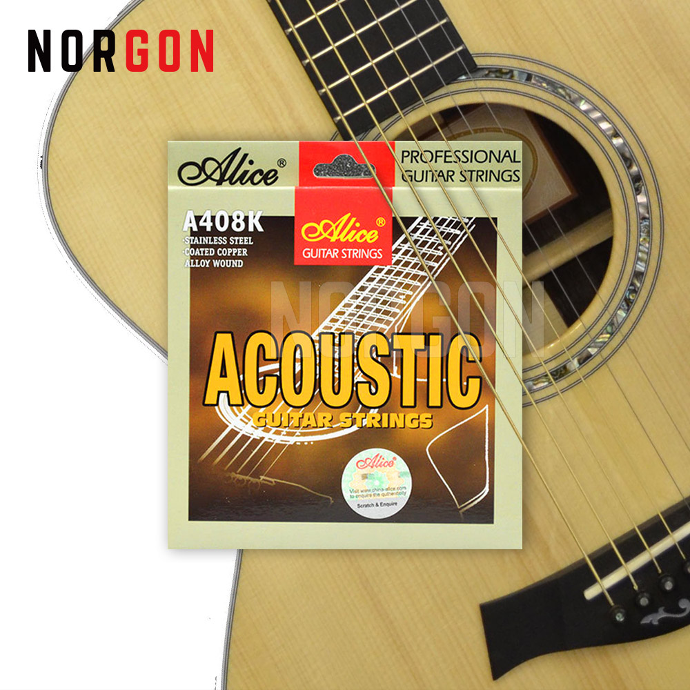 Alice Acoustic Guitar Strings 6-string Accessories Musical Instruments Steel Core Silver-Plated Alloy Wound A408K