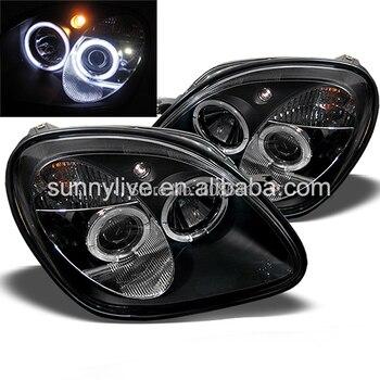 R170 SLK200 SLK230 SLK350 LED Head Lamp For Mercedes-Benz 1996-04 Black Housing