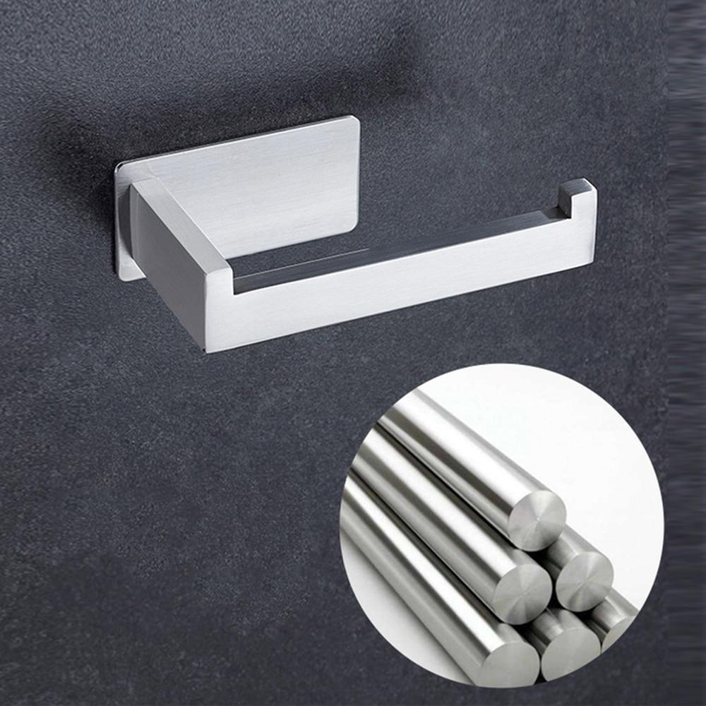 Bathroom Single Pipe Wall Mounted Toilet Roll Paper Holder Shelf Rack Roller/_