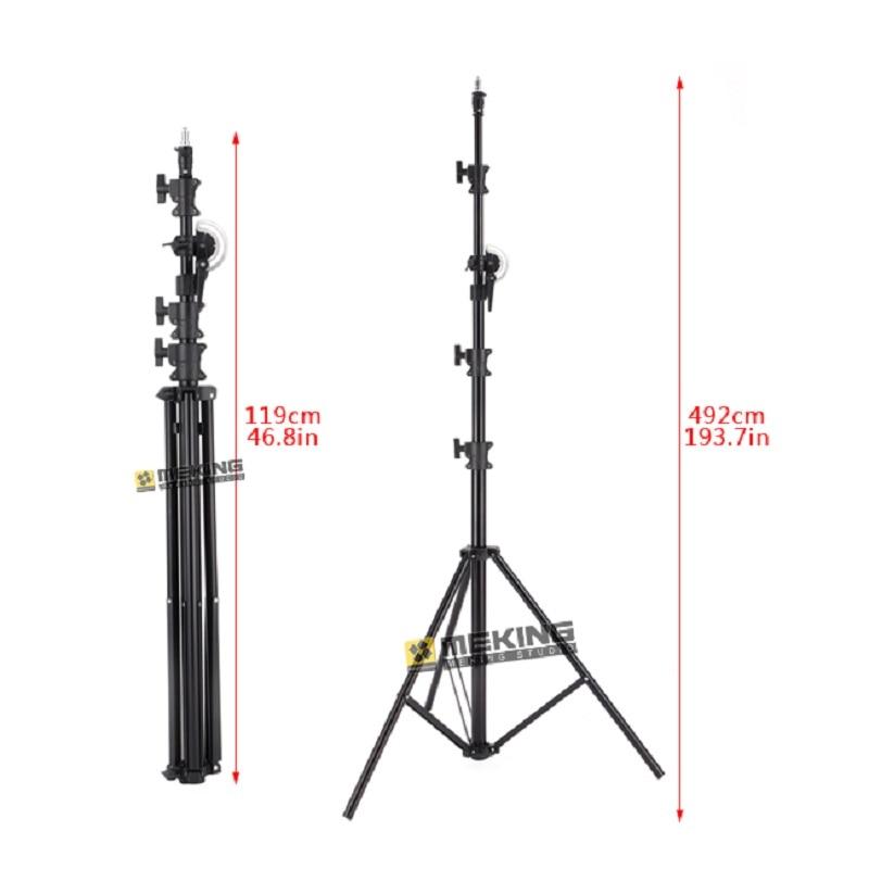 5 M lumière support trépied robuste éclairage Boom support Photo studio support système pour Photo Studio vidéo Flash parapluies réfléchir-in Accessoires pour studio photo from Electronique    3