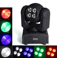 Double Side LED Stage Light 5 10W Led Wash Moving Head Light Each Face RGBW 4In1