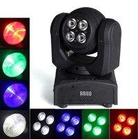 Double Côté LED Lumière de La Scène, 5*10 W Led Wash Moving Head Light/Chaque Visage RGBW 4In1 Led Effet Lyre Stage de Lumière