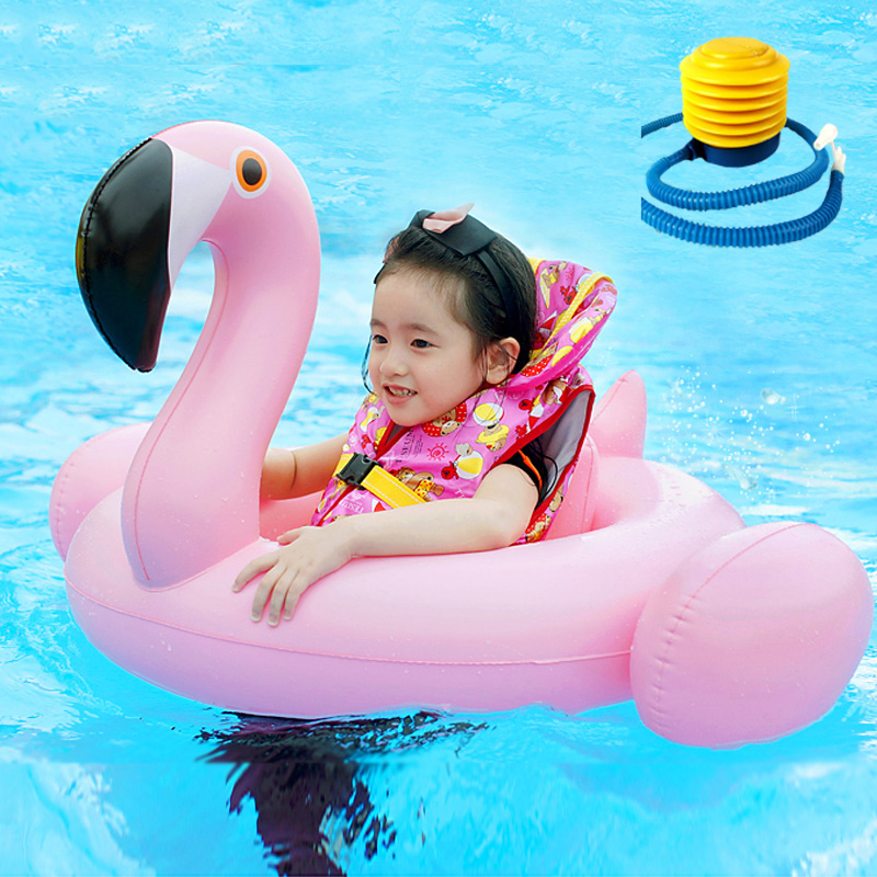 WholesaleSummer Baby Kids Safety White Flamingo Swimming Ring Inflatable Swan Swim Float Water Fun Pool Toys ring inflationists