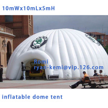 Free shipping 10x10x5mH oxford cloth giant inflatable dome tent large inflatable advertising tent Inflatable canopy for outdoor
