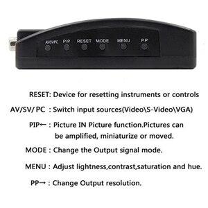 Image 3 - Adaptador av para vga, caixa de interruptor, adaptador de pc laptop, composto, vídeo av s video rca para pc, laptop, vga tv conversor
