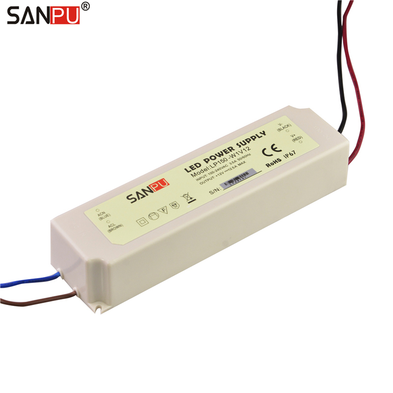 2017 New SANPU SMPS Power Supply for LED 12V 150W 12A IP67 Switch Driver 110V 220V AC DC Lighting Transformer Waterproof Plastic2017 New SANPU SMPS Power Supply for LED 12V 150W 12A IP67 Switch Driver 110V 220V AC DC Lighting Transformer Waterproof Plastic