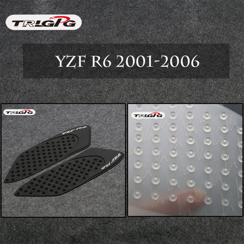 Gas Tank Pad Traction Side Fuel Knee Grip Protector For Yamaha YZF R6 2006-2007