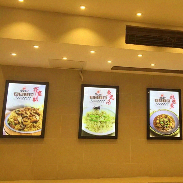 restaurant indoor wall mounted ultra slim led menu board signs