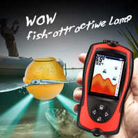 1 satz Drahtlose Pescar Finder Biss Alarm Wireless Fisch Finder 147ft 45 mt Wasser Tiefer ecoscandaglio pesca Fisch Sonar Angeln finder