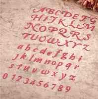 Números árabes letras y números de alfabeto troqueles de corte plantillas para Scrapbooking Plantilla de estampado decorativo troqueles para manualidades