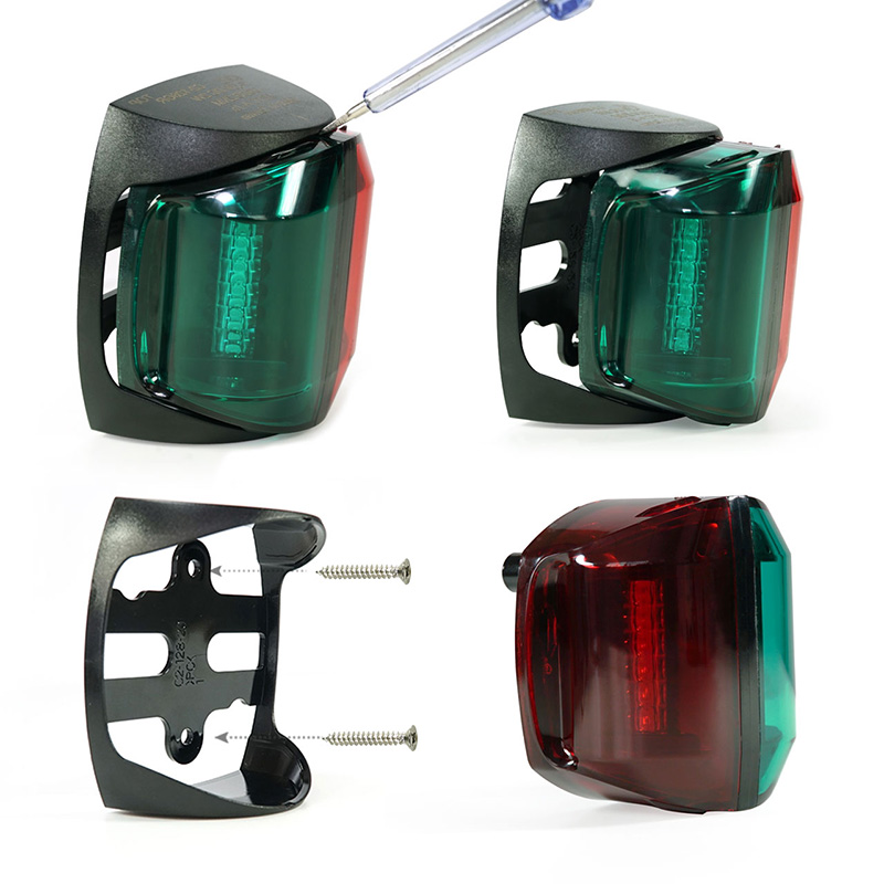 Image 3 - 12V Marine Boat LED Navigation Light 2W Bi Color Red Green Plastic Port Starboard Light-in Marine Hardware from Automobiles & Motorcycles