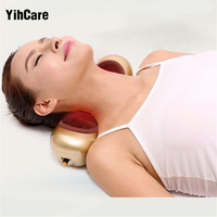 YihCare Moxibustion Gold Infrared Electric Cervical Massage Pillow Home Portable Massager Pillows For Neck U shaped Treatment