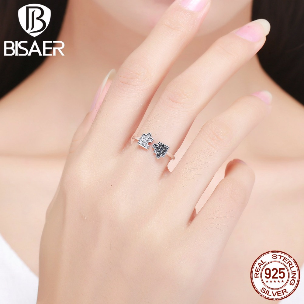 Vintage Authentic 100% 925 Sterling Silver Puzzle Glamour Ladies Open Finger Rings For Women Sterling Silver Rings Wedding