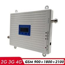 Répéteur à trois bandes GSM 900 + DCS/LTE 1800 + WCDMA 2100 amplificateur de Signal Mobiel 2G 3G 4G réseau amplificateur de Signal cellulaire Kit dantenne