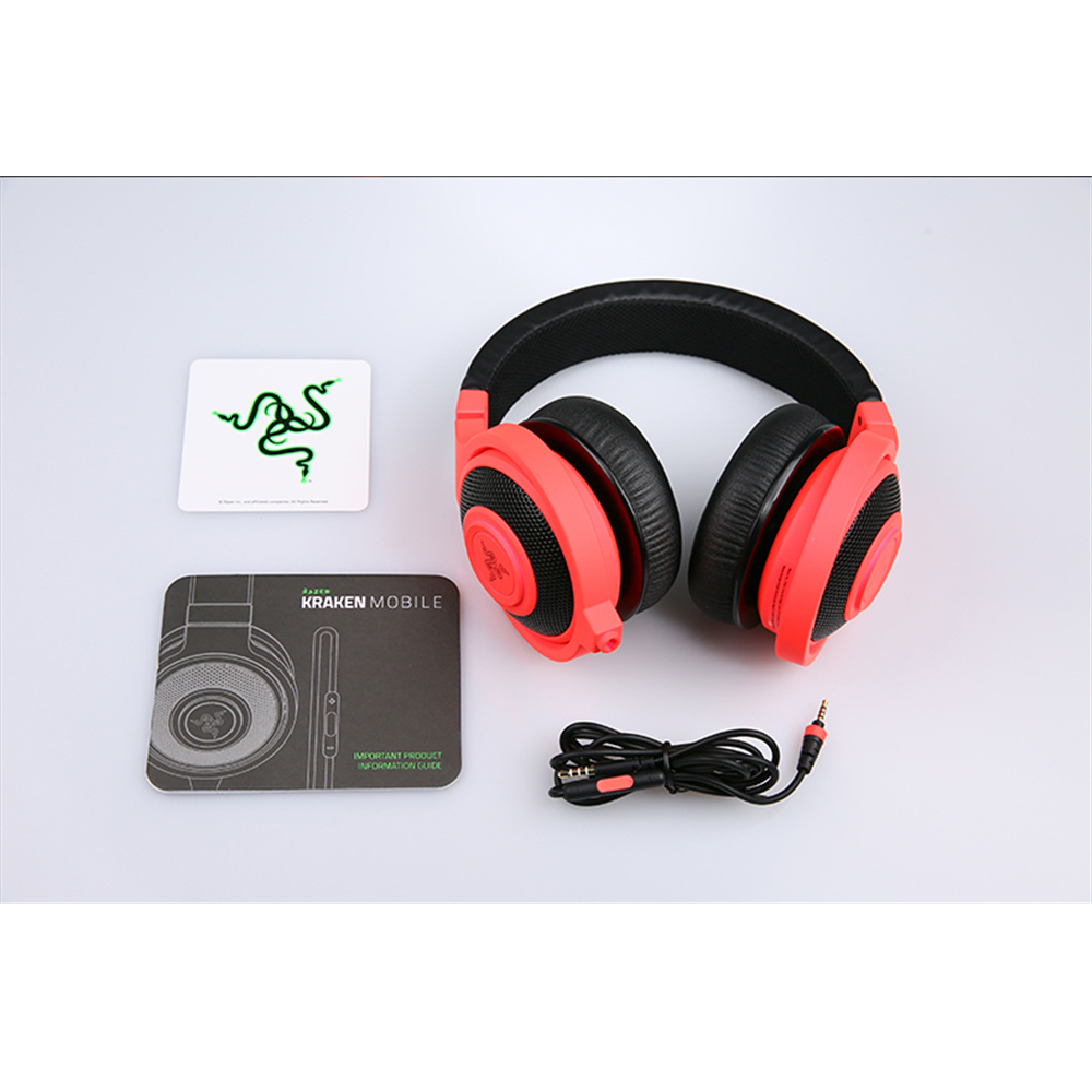 a2a63f996aa Original Razer Kraken Mobile Analog Music and Gaming Headset 3.5mm with Mic  Media Control Remote Gaming Music Headphone Earphone-in Headphone/Headset  from ...