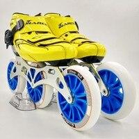Оригинальный Маркус скорость катание обувь Professional взрослый ребенок роликовые коньки с 120 мм колеса для роликовых коньков