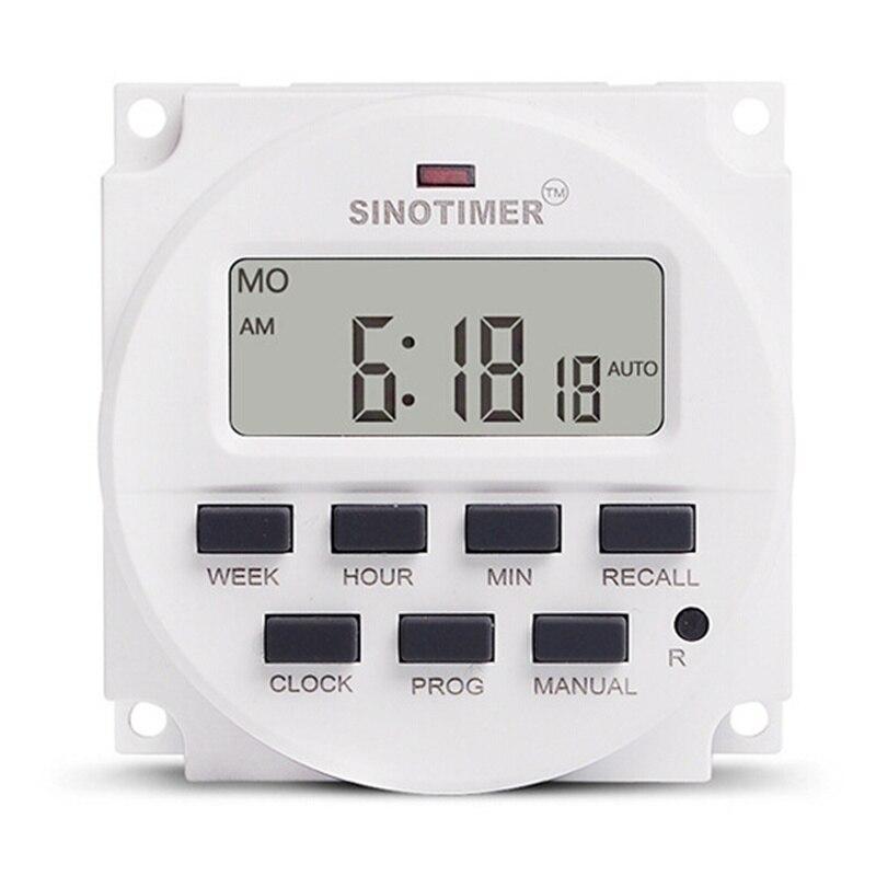 Zielsetzung Große Lcd 15,98 Zoll Digital Timer 12 V 250 V Ac Dc 7 Tage Programmierbare Timer Schalter Tm618n-4 Countdown-zeit Funktion Auswahlmaterialien Timer Werkzeuge