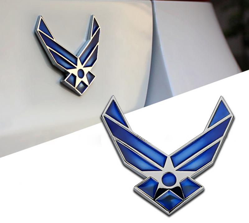 DSYCAR 3D Metal US Air Force Car sticker Logo Emblem Badge Car Styling for Fiat Bmw Ford Honda volkswagen Audi toyota opel DS VW 11