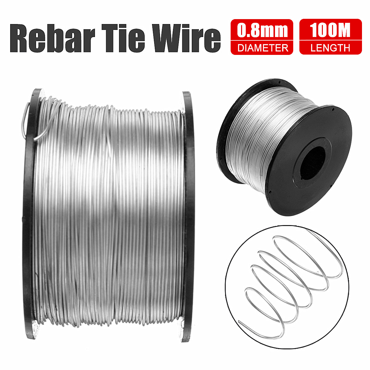 110M 0.8mm Tie Wire Coil For Automatic Rebar Tying Machine-in Tool ...