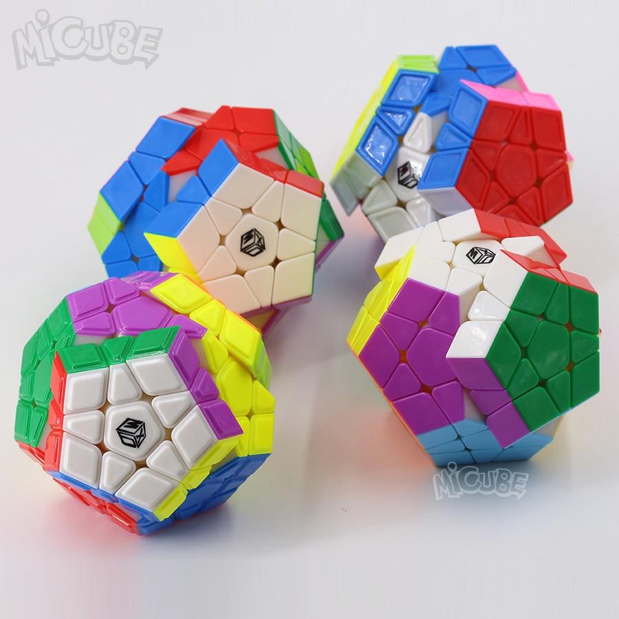 QIYI Mofangge Galaxy Megaminx 12-side Magic Cube Speed Puzzle Cube Convex color