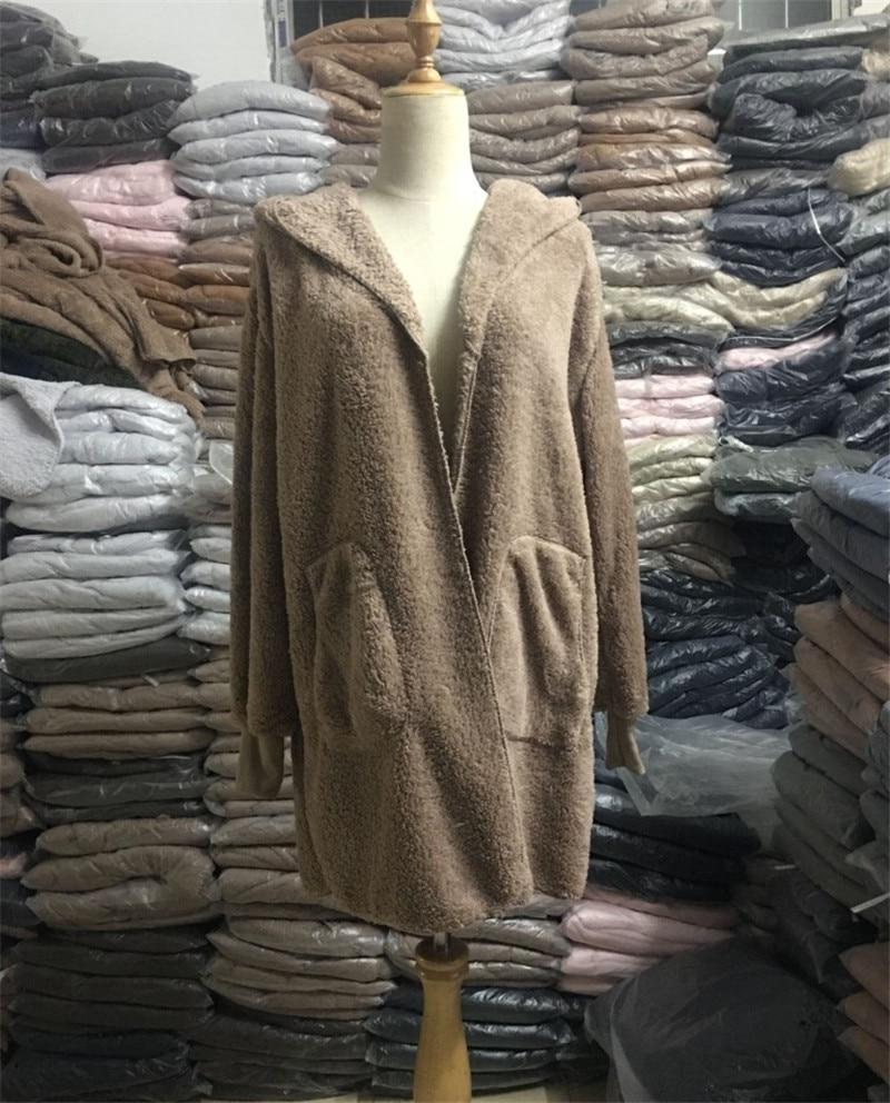 HTB1pHZzO4TpK1RjSZFKq6y2wXXaY S-5XL Faux Fur Teddy Bear Coat Jacket Women Fashion Open Stitch Winter Hooded Coat Female Long Sleeve Fuzzy Jacket 2018 Hot New