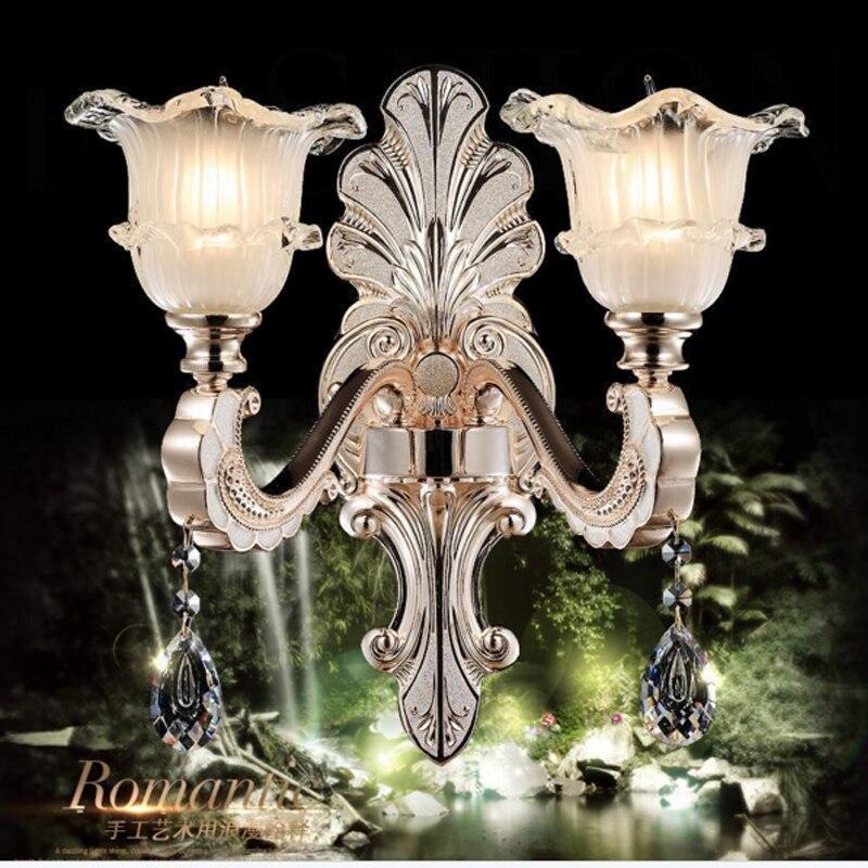 Led k9 cristal applique murale intérieur studio miroir éclairage salle de bain miroir éclairage hôtel applique murale or mur led chambre lumières