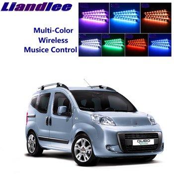 Assentos LiandLee Car Brilho Interior Andar Decorativa Atmosfera Ambiente Sotaque luz de Néon Para Fiat Fiorino/Qubo 2007 ~ 2019