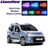 LiandLee Auto Glow Interieur Floor Decoratieve Sfeer Zetels Accent Ambient Neon licht Voor Fiat Fiorino/Qubo 2007 ~ 2019