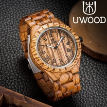 Limited Handmade Zebra Sandal Wooden Watches For Men Luxury Brand UWOOD Watch MIYOTA Quartz Retro Antique Sandalwood Relogio