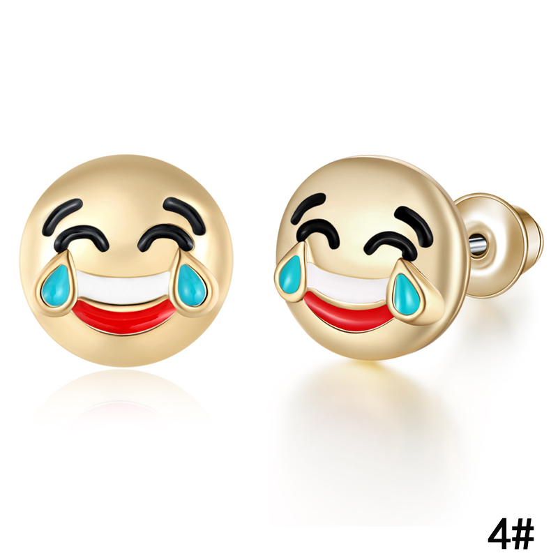 Stud Earrings Hot Creative Expression Pack Emoji Earrings Women Studs Earrings Cute Cartoon Earring Forwomen Girls Jewelry Best Friend Gift