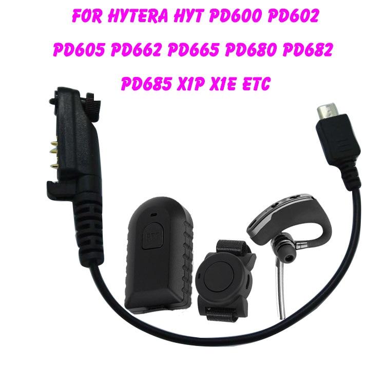 Walkie Talkie Wireless Bluetooth Headset Wireless Headphone Earpiece For Hytera HYT PD600 PD602 PD605 PD662 PD665 PD680 PD682