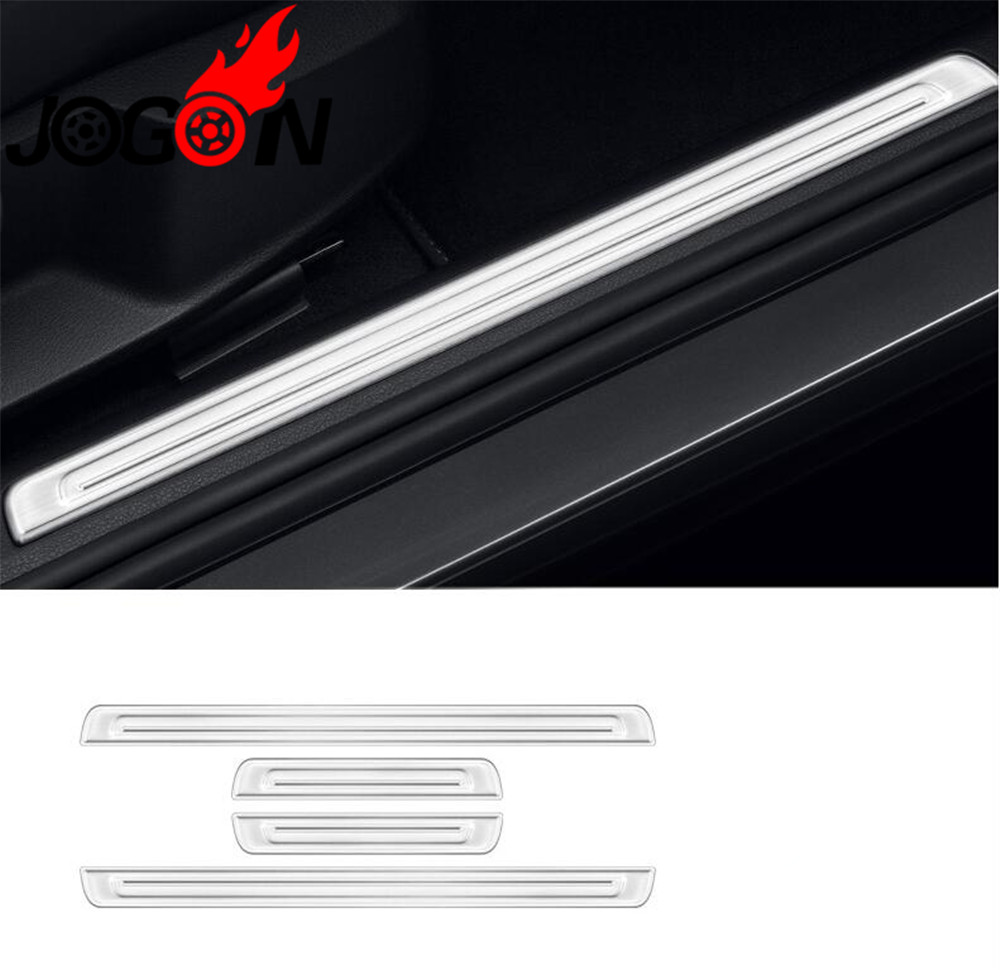 Accessories Stainless Steel Door Sill Trim Plates Stainless Steel Door Sills Guard For VW GOLF 7 MK7 GTI GTD 2014+ Car stylingAccessories Stainless Steel Door Sill Trim Plates Stainless Steel Door Sills Guard For VW GOLF 7 MK7 GTI GTD 2014+ Car styling