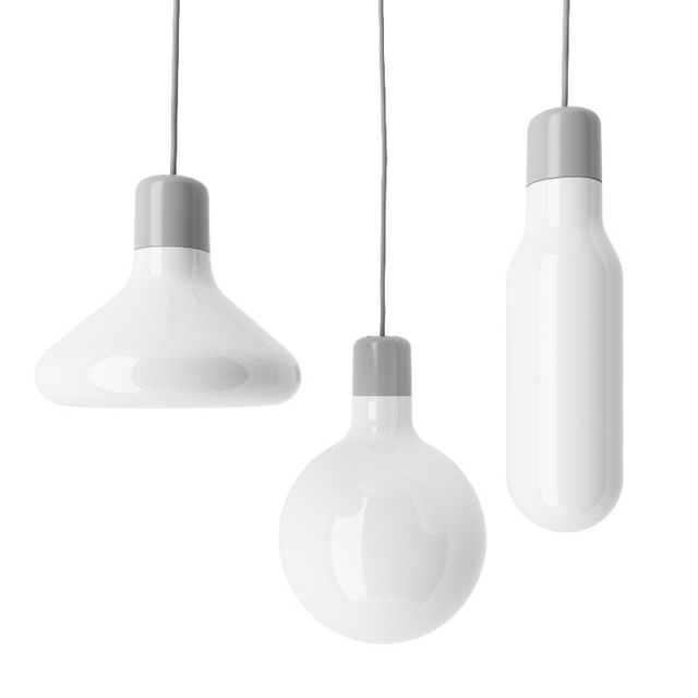 Form Pendant Lights White Glass Bulb Pendant Lamp For Living Room Bedroom Office Suspension Lighting Fixtures Lustres PL423