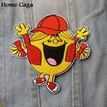Homegaga LITTLE MISS Sunshine girl DIY embroideried patches sew iron on clothes backpack home decorations stickers badges D1866