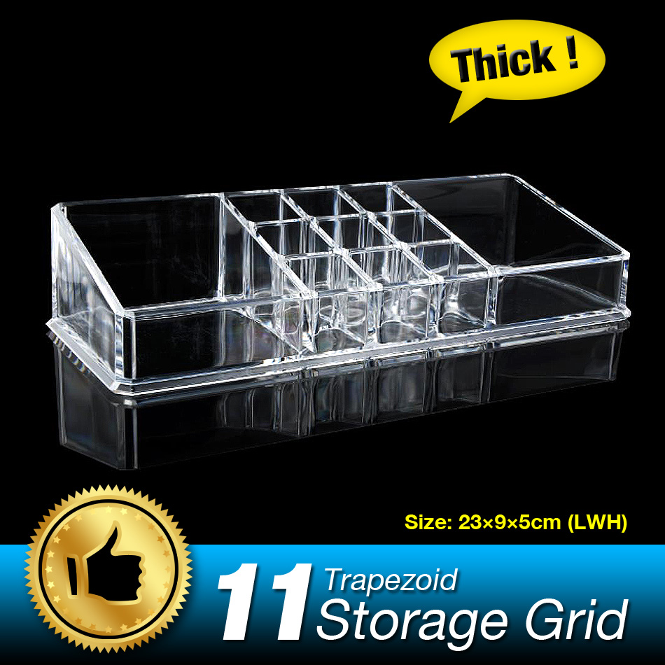 Hot 11 Grids Lipstick Cosmetic Display Stand Jewelry Box Make up Storage Holder Multifun ...