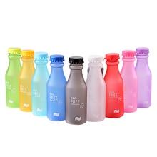 Небьющиеся яркие цвета, матовый герметичный пластиковый чайник, 550 мл, без бисфенола, портативная бутылка для воды для путешествий, йоги, бега, кемпинга