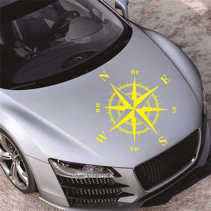 Image 5 - 50cm * 50cm araba pusula Totem Sticker sanat tasarım vinil pusula araba çıkartmaları ve çıkartmaları Hood Sticker kapak vücut aplike