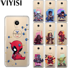 VIYISI For Meizu M6 5 Note Phone Case M5S 5C M3s 3 Pro6 U10 U20 Cartoon Star Wars Soft TPU Back Cover Deadpool Coque Shell