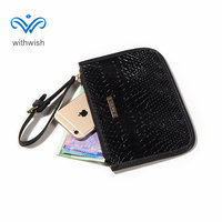 CNP Free Shipping 4 Color PU Leather Women Wallet Fashion Dayuse Wrist Bag Coin Purse Casual