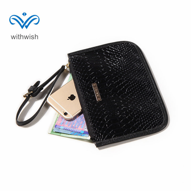 CNP Free Shipping 4-color PU Leather Women Wallet Fashion Dayuse Wrist Bag Coin Purse Casual Clutch Bag Hand Bag  22*15cm