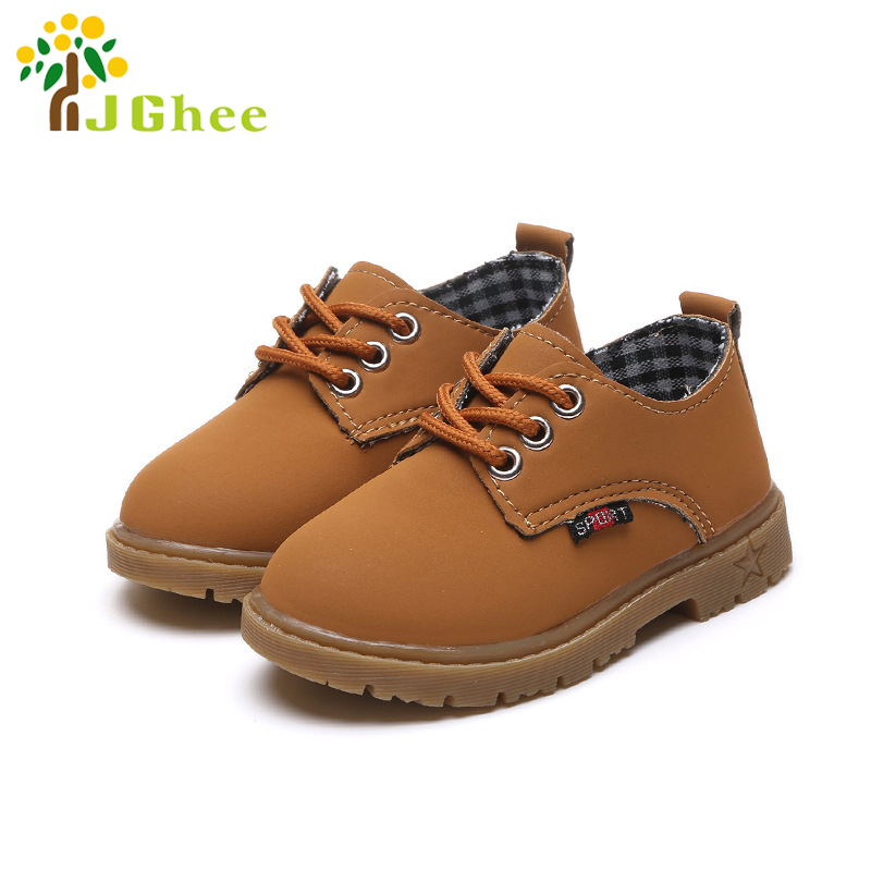 Spring Autumn Kids Shoes Childrens Casual Sneakers For Boys Girls Baby Boy Girl Martin Shoes British Style Fashion 21-30