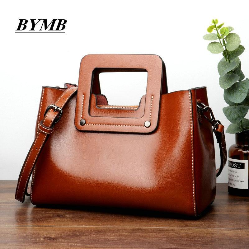 2018 Fashion Ladies Hand Bag Women's 100% Genuine Leather Handbag Cowhide Leather Tote Bag Bolsas femininas Female Shoulder Bag стоимость