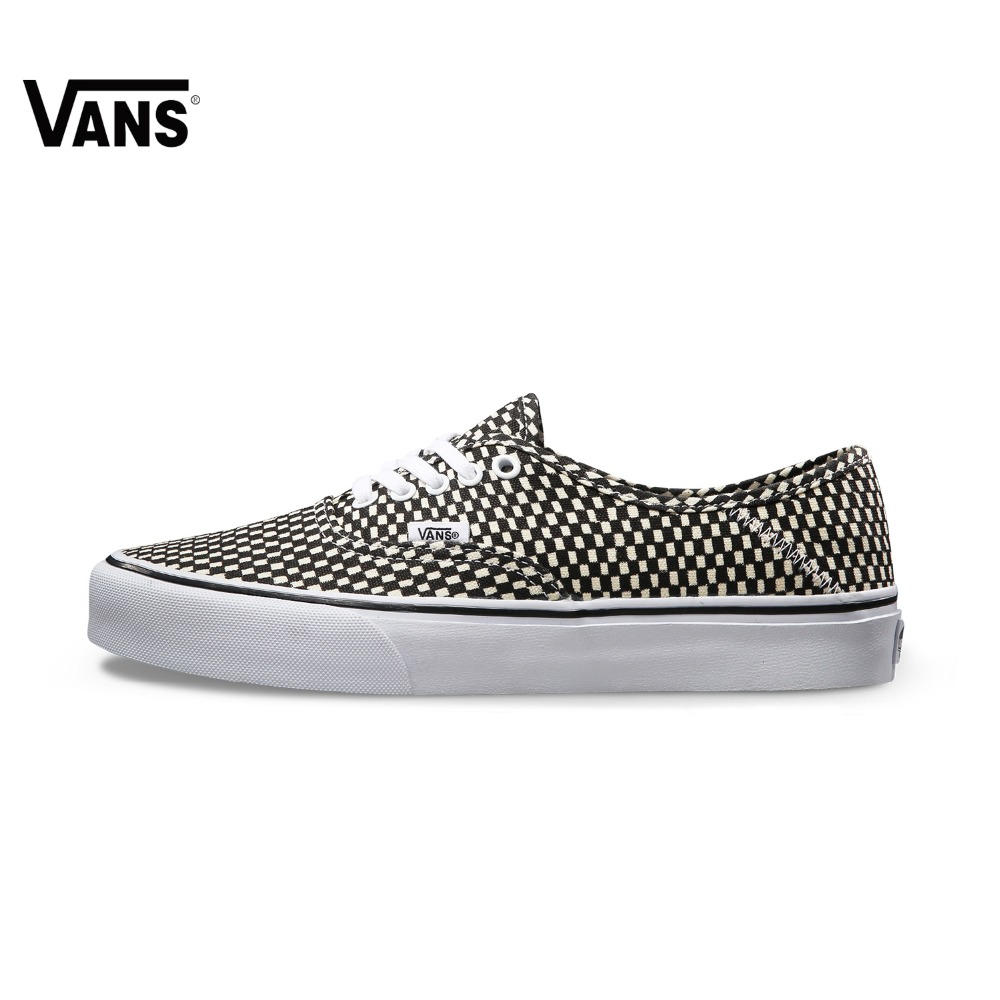 Original New Arrival Vans Summer Black and White Authentic Low-Top Men's Skateboarding Shoes Sport Outdoor Sneakers