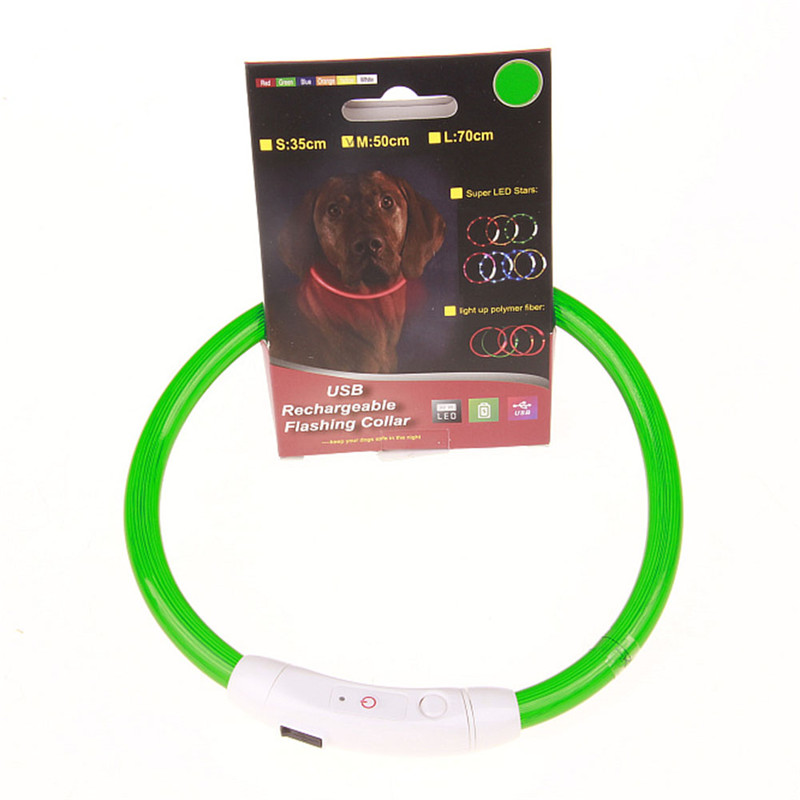 Genopladelig valpkrave USB-LED Blinkende Light Band Bæltsikkerhed - Pet produkter - Foto 6